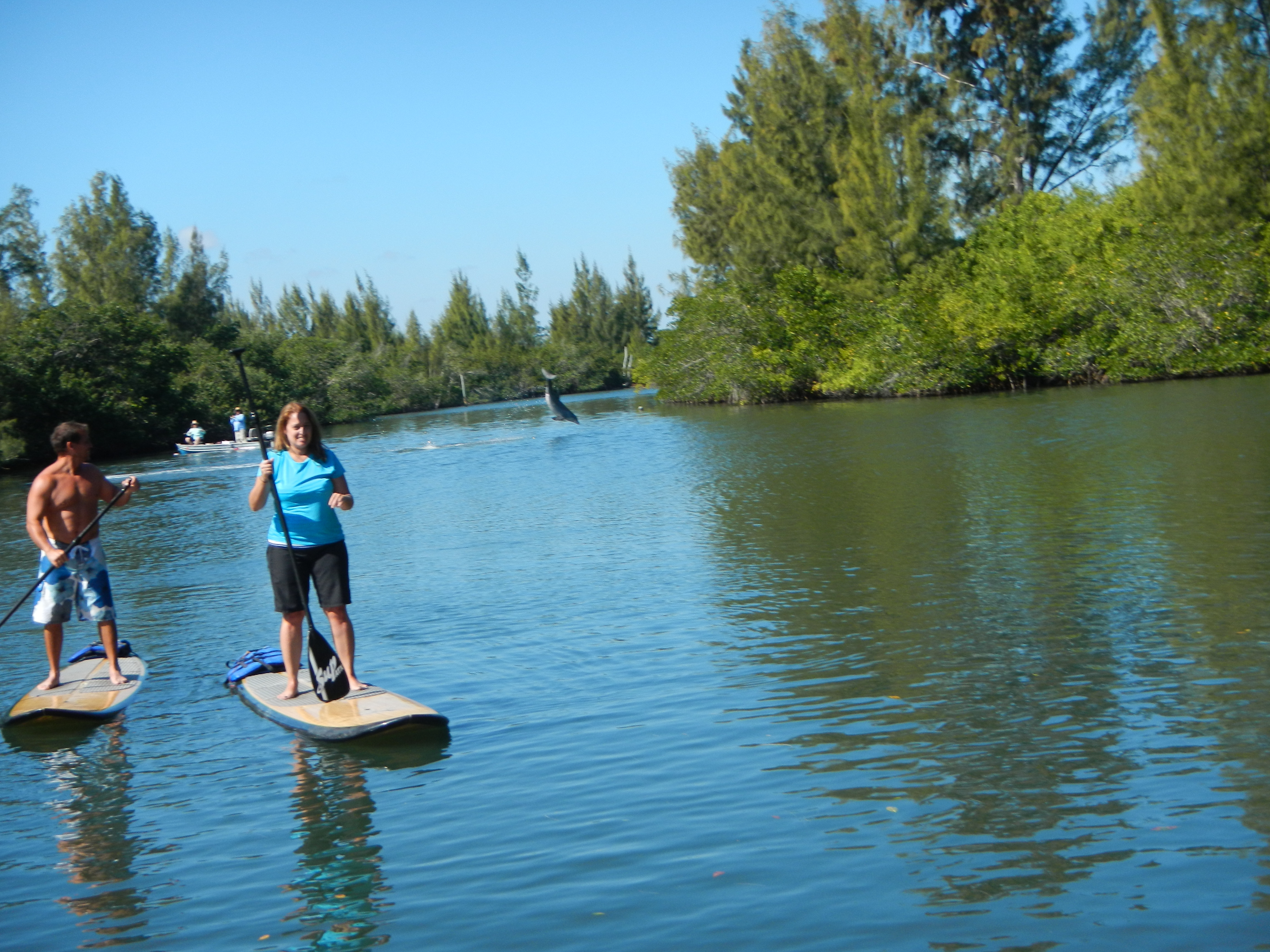 stand up paddle boarding adventure tour with supecoadventures minutes from cocoa beach melbourne beach and vero beach in central floridas east coast