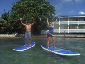 Paddle boarding around the world